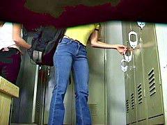 Locker-room voyeur video