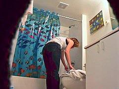 Hidden cam mature in shower