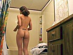 Girl dressing in bedroom