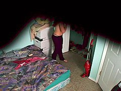 Changing cloths on voyeur cam