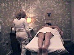 Hidden sex in massage parlor