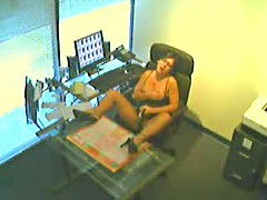 Voyeur masturbation in office