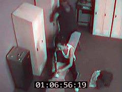 Spy cam porn with babe in panty enjoying orgasm on hard stick