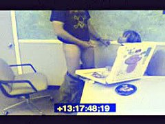 Cool spy cam xxx with brunette girl doing blowjob in the cafe