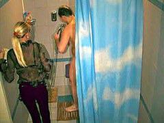 Clip voyeur features hot amateur couple naked in the parlor