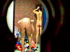 Private voyeur in locker room