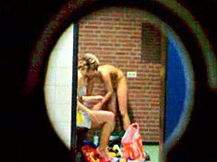 Private voyeur in locker room