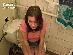 Voyeur pleasure on toilet