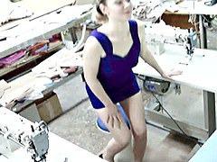 Hidden needlewoman dildoing pussy