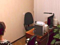 Secretary on voyeur camera