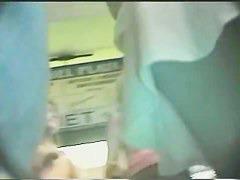 Upskirt ass duo in this candid camera voyeur videos
