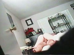 Hidden sex cam gets wife's fatty ass on action