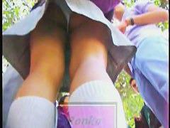 Sexy and naughty English schoolgirls upskirts