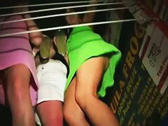 Club and disco fun with upskirt hot shots