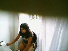 Nice teen in shorts taking a quick pee
