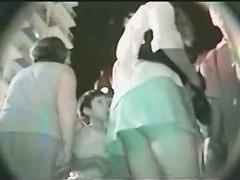 Cute panties on teen asses in night upskirt cam