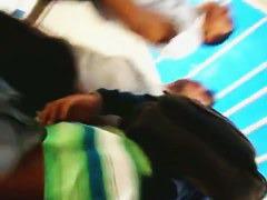 Upside-down upskirt video made with a spy camera