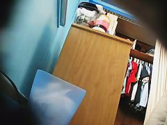 Hidden camera installed in a chubby girl