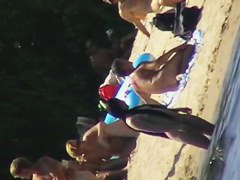 Beach is the place for some nude voyeur filming action
