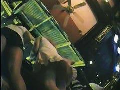 She is being filmed on a hidden upskirt camera