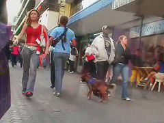 Smart and clever voyeur has a street candid video