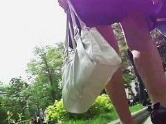 Mature business woman has been spotted walking her ass upskirt