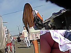 Moist booty up petticoat of hawt legal age teenager
