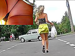 Fantastic up petticoat closeup footage