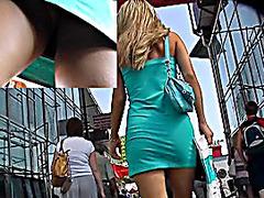 Throat-watering upskirt butt caught on webcam