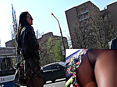 Hawt dark brown in hawt upskirt vid