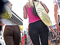 Great piece of booty in sexy panties
