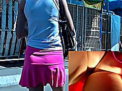 Hawt strap panty up pink petticoat