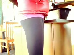 Nice cameltoe at Starbucks
