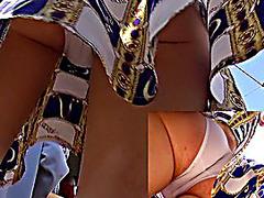 Fantastic upskirt closeup clip