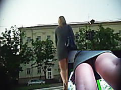 Beauties upskirt got on my hidden web camera