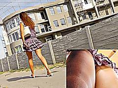 Awesome street upskirt footage