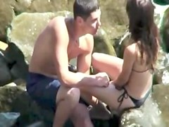 voyeur video teens fuck secretly at the beach
