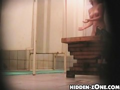 Hidden webcam shower clips three