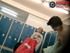 Mature saggy tits exposed on a spy cams dressing room video