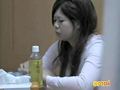 Asian girlfriend hidden cam butt hole masturbation