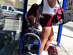 cheerleader short shorts ass