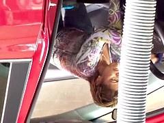 Car wash Mexican milf jeans 4