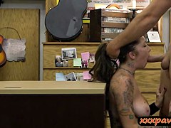 Sexy chick gave up her pussy to get fucked for money