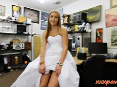Bitch pawns her wedding dress and banged at the pawnshop