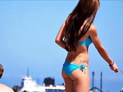 Blue bikini beach HD