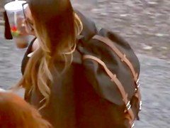 Exotic voyeur clip with downblouse scenes