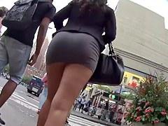 Upskirt nice ass lady