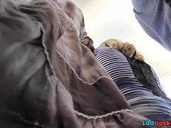 Another great upskirt in public filmed by spy camera