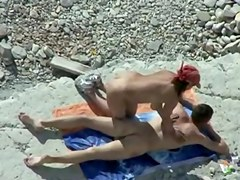 Voyeur. Blowjobs and Massage on public beach