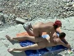 Voyeur. Blowjobs and Massage on public beach